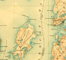 Maine USGS Historical Map Castine 807446 1904 62500 Sticker