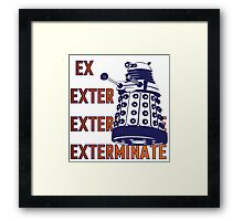 Doctor Who: Ex Exterminate Dalek Framed Print