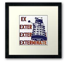 Doctor Who: Ex Exterminate Dalek Framed Print