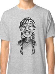 Willie Nelson - sketchbook portrait Classic T-Shirt