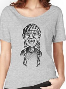 Willie Nelson - sketchbook portrait Women's Relaxed Fit T-Shirt