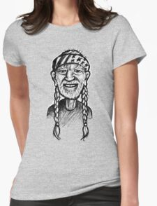 Willie Nelson - sketchbook portrait Womens Fitted T-Shirt