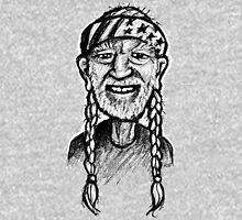 Willie Nelson - sketchbook portrait Unisex T-Shirt