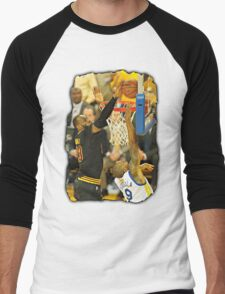 LeBron James Blocking Andre Iguodala- 2016 NBA Finals Men's Baseball ¾ T-Shirt