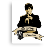 My first Doctor (Who) Second 2nd Patrick Troughton Canvas Print