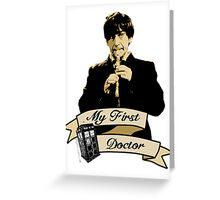 My first Doctor (Who) Second 2nd Patrick Troughton Greeting Card