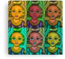 Logic iS Dead psych pattern Canvas Print