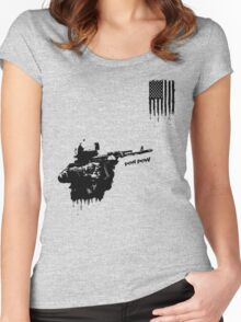 PEW PEW BALLER Women's Fitted Scoop T-Shirt