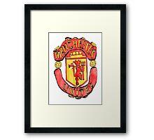 Manchester United Emblem Framed Print