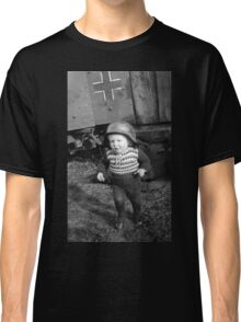 German Babe Playing Soldier During WW2 Classic T-Shirt