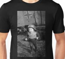 German Babe Playing Soldier During WW2 Unisex T-Shirt