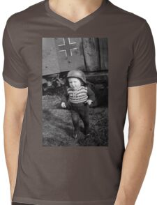 German Babe Playing Soldier During WW2 Mens V-Neck T-Shirt