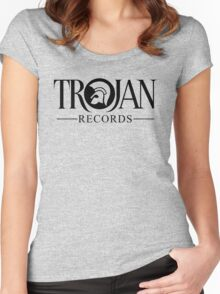TROJAN RECORDS 12 Women's Fitted Scoop T-Shirt
