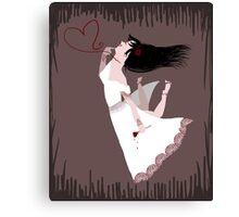 Snow White in Love Canvas Print