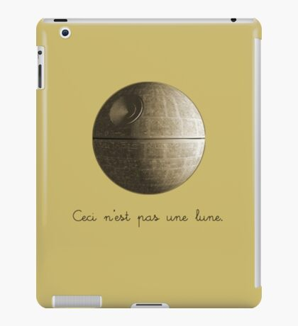 Ceci n'est pas une lune pipe Star Wars That's No Moon Death Star Deathstar iPad Case/Skin