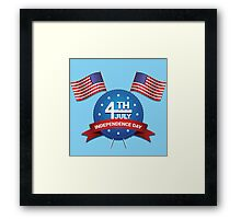 Happy Independence Day of America Framed Print