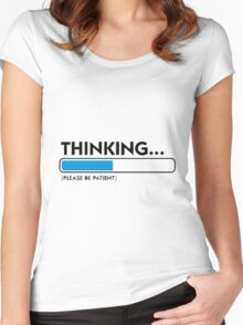 Thinking progress bar Women's Fitted Scoop T-Shirt