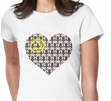 Sherlock Heart Womens Fitted T-Shirt