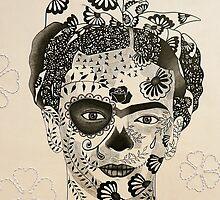 Day of the Dead Frida by Simone Maynard