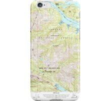 USGS TOPO Map Alaska AK Sitka D-6 359168 2000 63360 iPhone Case/Skin
