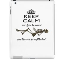 Seize The Moment Skeleton Buffy Quote Bones 1 iPad Case/Skin