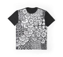 Flowery Waterfall Zentangle Graphic T-Shirt