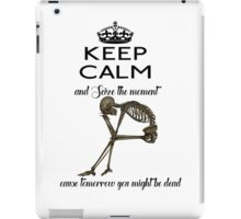 Seize The Moment Skeleton Buffy Quote Bones 2 iPad Case/Skin