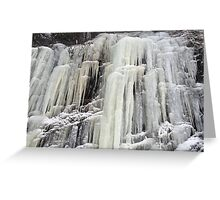 The frozen waterfall Greeting Card