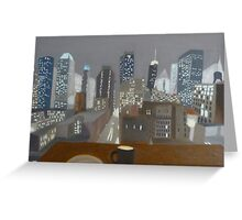City Skyline at Night Greeting Card