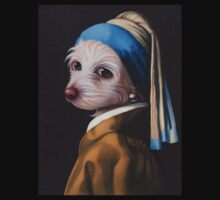 The Dog with the Pearl Earring (Full Painting) Baby Tee