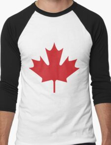 Maple leaf Canada Men's Baseball ¾ T-Shirt