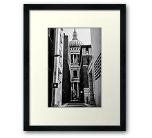 Street scene 3 Framed Print