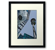 Urban saucers! Framed Print