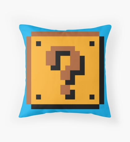 Super Mario Bros. Question Mark Block Throw Pillow