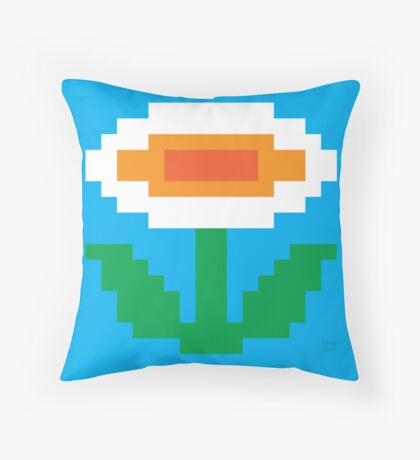 Super Mario Bros. Fire Flower Throw Pillow