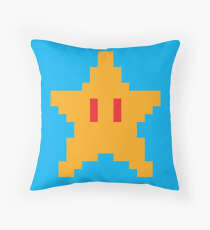 Super Mario Bros. Invincibility Star Throw Pillow
