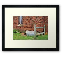 Old Grist Mill Stone Framed Print
