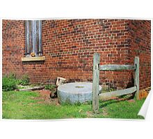 Old Grist Mill Stone Poster