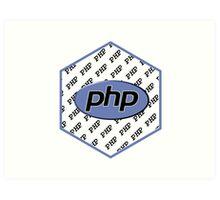 PHP programming language hexagon sticker Art Print