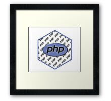 PHP programming language hexagon sticker Framed Print
