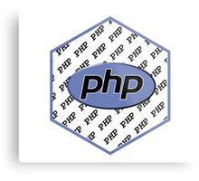 PHP programming language hexagon sticker Metal Print