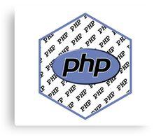 PHP programming language hexagon sticker Canvas Print