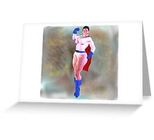 Black Power Girl : A Muscular Black Superhero... Greeting Card