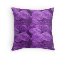 Small Hot Purple Water Air Bubbles Throw Pillow