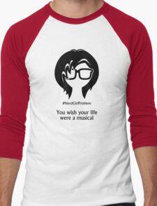 Nerd Girl Problem #4 Men's Baseball ¾ T-Shirt