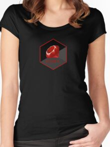 Ruby programming language hexagon sticker Women's Fitted Scoop T-Shirt