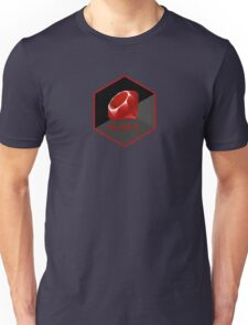 Ruby programming language hexagon sticker Unisex T-Shirt