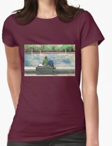 cute kids in the park Womens Fitted T-Shirt