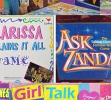 Nostalgic Board Game Mania Sticker