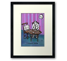 Computer Dating Framed Print